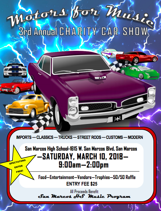 Motors for Music - 3rd Annual Charity Car Show