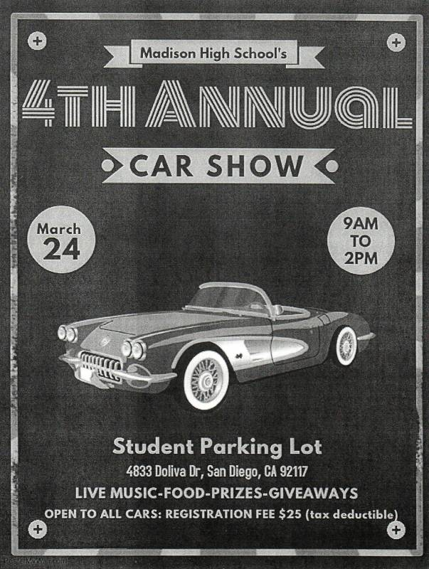 Calendar - Car show giveaways