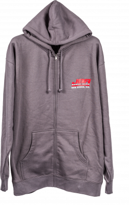 JBA Hooded Zipper Grey