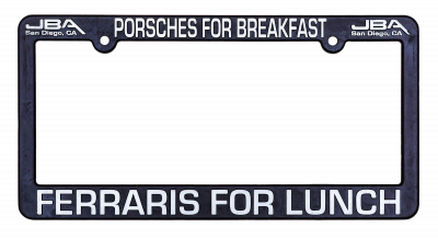 JBA License Plate Frame - Breakfast/Lunch
