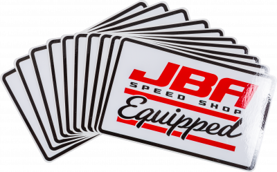 JBA Sticker Speed Shop Equipped Large white
