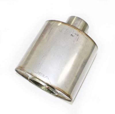 """JBA Exhaust - Straight-Through 2.5"""" Muffler 304 SS Center/Center"""