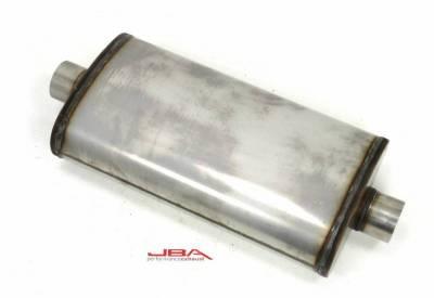 """JBA Exhaust - Chambered 3"""" 304SS Muffler Center/Center"""