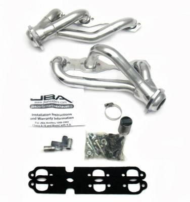 JBA Exhaust - 88-95/02-03 Blazer 4.3L 4wd Sil Cer