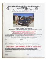 Show & Shine, In Memory of Bob Fria Presented by the Mustang Club of San Diego