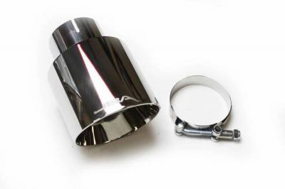"Performance Exhaust - Exhaust Tips - JBA Exhaust - 2.5"" x 4"" x 5 3/4"" Double Wall Polished S/S Chrome Tip"