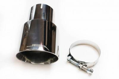 Performance Exhaust - Exhaust Tips - JBA Exhaust - 3? x 4? x 7 1/4? Double Wall Polished S/S Chrome Tip
