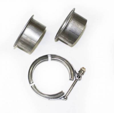 "Performance Exhaust - Accessories - JBA Exhaust - 2.5"" Stainless Steel V-Band clamp and flanges"