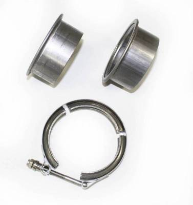 "Performance Exhaust - Accessories - JBA Exhaust - 3"" Stainless Steel V-Band clamp and flanges"