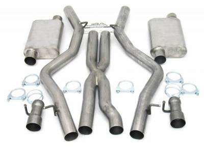 Exhaust Systems - Automotive - JBA Exhaust - 08-14 Dodge Challenger Dual Exh 6.1/6.4L SRT8