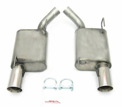 "Exhaust Systems - Automotive - JBA Exhaust - 05-10 Mustang GT500/GT 2 1/2"" w/ 4"" Tip"