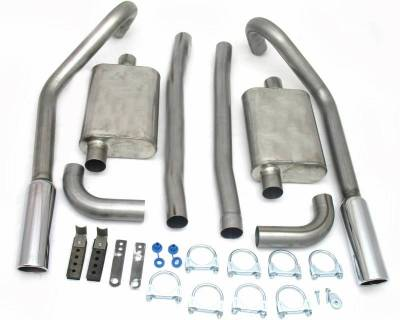 Exhaust Systems - Automotive - JBA Exhaust - 67-70 Mustang Exhaust w/Tips
