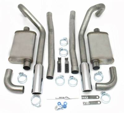 Exhaust Systems - Automotive - JBA Exhaust - 67-70 Mustang Stagger Shock