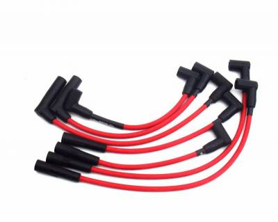 Performance Exhaust - Ignition Wires - JBA Exhaust - 91-00 Jeep 4.0L Red