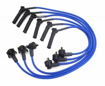 Performance Exhaust - Ignition Wires - JBA Exhaust - 97-01 Explorer 4.0L SOHC Blue