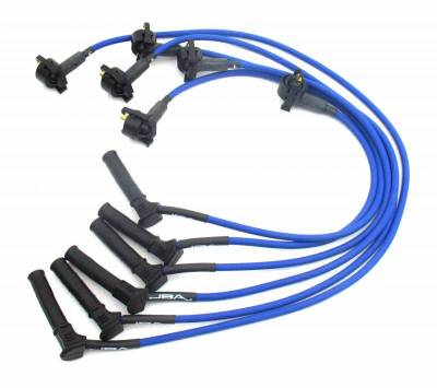 Performance Exhaust - Ignition Wires - JBA Exhaust - 02-03 Explorer 4.0L SOHC Blue