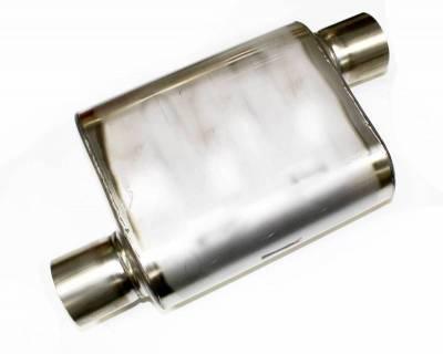 """Performance Exhaust - JBA Mufflers - JBA Exhaust - Chambered 3"""" Muffler 304 SS Offset/Offset"""