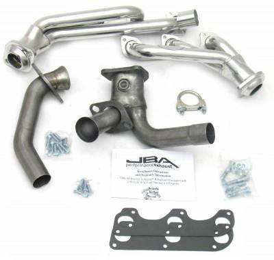 Cat4Ward Shorty - Truck & SUV - JBA Exhaust - 88-90 Ranger/Bronco II 2.9L w/Man Trans Sil Cer