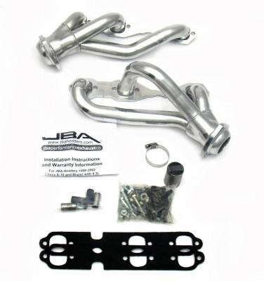 Cat4Ward Shorty - Truck & SUV - JBA Exhaust - 88-95/02-03 Blazer 4.3L 4wd Sil Cer
