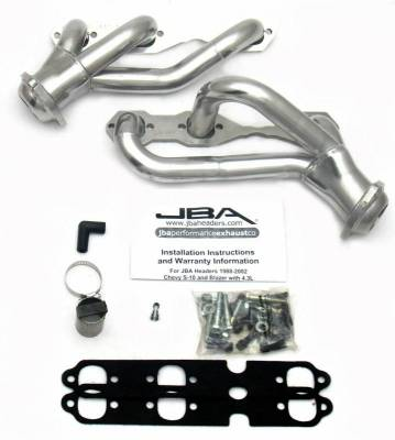 Cat4Ward Shorty - Truck & SUV - JBA Exhaust - 88-95/02-03 S10 4.3L 2wd Sil Cer
