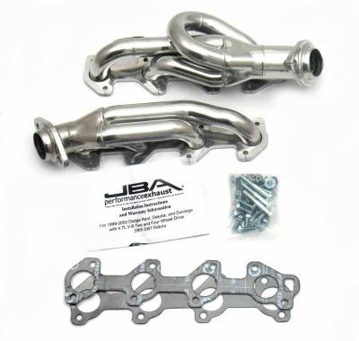 Cat4Ward Shorty - Truck & SUV - JBA Exhaust - 02-03 Dodge Ram 4.7L Sil Cer