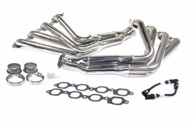 "Long Tube - Automotive - JBA Exhaust - JBA Performance Exhaust 36823S 1 7/8"" Header Long Tube ""304 Series"" Stainless Steel 4-2-1 14-15 C7 Corvette  7.0L LS7"