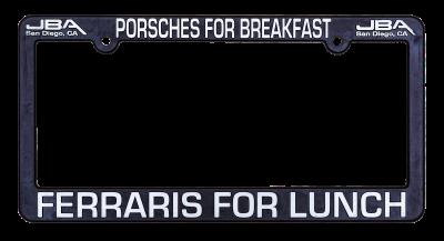 JBA Merchandise  - JBA License Plate Frame - Breakfast/Lunch