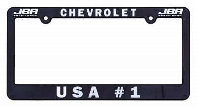 "JBA Merchandise - JBA License Plate Frame - ""Chevrolet"" - ""USA#1"""