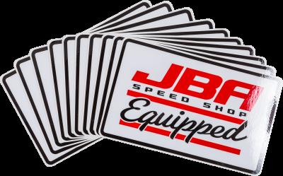 JBA Merchandise - JBA Sticker Speed Shop Equipped Large white