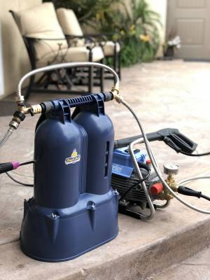 Shown connected to your pressure washer.