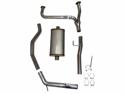 "Exhaust Systems - Truck & SUV - JBA Exhaust - JBA Performance Exhaust 40-1402 3"" Stainless Steel Exhaust System 2016-2019 Nissan Titan 5.6L XD"