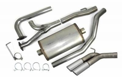 "Exhaust Systems - Truck & SUV - JBA Exhaust - JBA Performance Exhaust 40-1403 3"" Stainless Steel Cat Back Exhaust System 2004-2020 Nissan Titan 5.6L Dual 3 1/2"" Tips Side Rear Exit / Not for XD models."