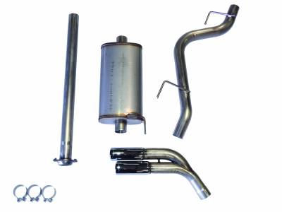 Exhaust Systems - Truck & SUV - JBA Exhaust - JBA Performance Exhaust 40-2544 Stainless Steel Exhaust System 2015-2020 Ford F-150 2/4WD 2.7/3.5/5.0L including ECO dual side exit