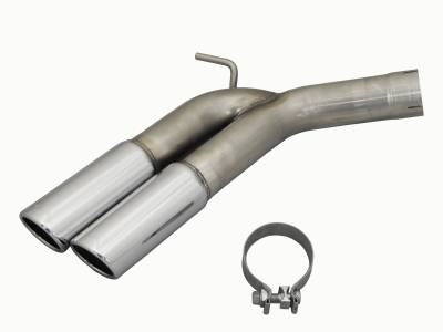 "Exhaust Systems - Truck & SUV - JBA Exhaust - JBA Performance Exhaust 30-1403T Dual 3.5"" 304SS Angle Cut exhuast tip Upgrade kit for 40-1400, 40-1401 and 40-1402 Nissan Cat Back Exhaust Systems"