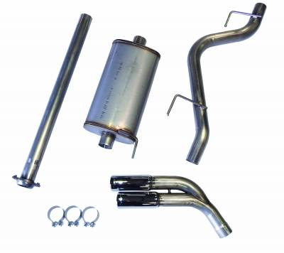 Exhaust Systems - Truck & SUV - JBA Exhaust - JBA Performance Exhaust 30-2544 304 Stainless Steel Exhaust System 2015-19 Ford F-150 2/4WD 2.7/3.5/5.0L including ECO dual side exit