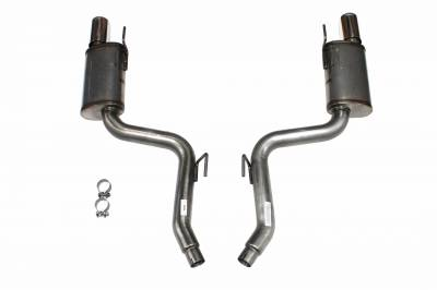 """Exhaust Systems - Automotive - JBA Exhaust - JBA Performance Exhaust 30-2688 304 Stainless Steel Axle Back Exhaust System 2015-19 Mustang Eco-Boost with 4"""" double wall tips"""