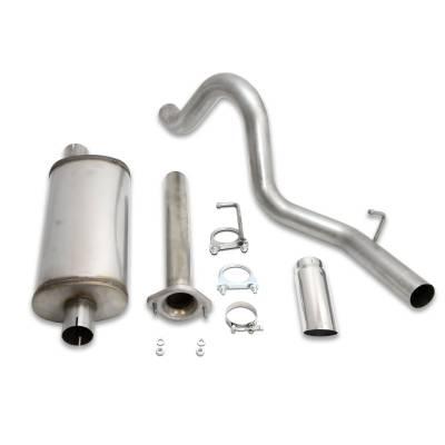 Exhaust Systems - Truck & SUV - JBA Exhaust - JBA Headers 30-1541 - JBA Headers Exhaust Systems, 04-06 Jeep Unlimited 4.0L Cat Back 304SS