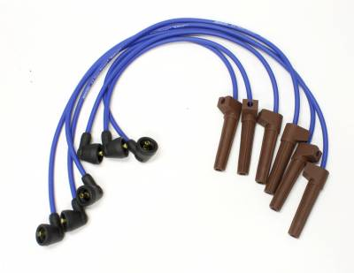 PerTronix Ignition Products - PerTronix Spark Plug Wires - PerTronix Ignition Products - Wires, 6 cyl Ford Custom Fit Blue