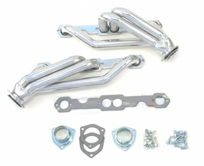 Patriot Headers - Patriot Clippster Headers - Patriot Exhaust Products - 82-92 S-10/S-15 SBC Mid Length Silver