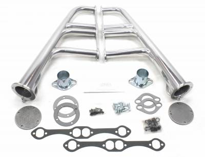 Patriot Headers - Patriot Lakester Headers - Patriot Exhaust Products - Street Rod Lakester SBC Silver Ceramic