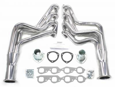 Patriot Headers - Patriot Specific Fit Headers - Patriot Exhaust Products - 67-74 GM A, F, G Body BBC Long Tube Slvr
