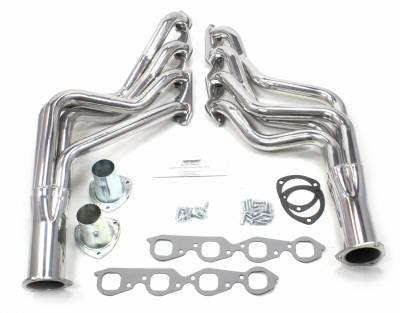 Patriot Headers - Patriot Specific Fit Headers - Patriot Exhaust Products - 70-77 A, F, G Body BBC Long Tube Silver