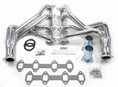 Patriot Headers - Patriot Full Length & Fenderwell Headers - Patriot Exhaust Products - 65-76 Ford F-100/F-150  Long Tube Silver