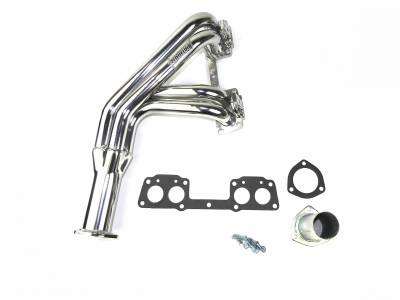 Patriot Headers - Patriot Classic Import Headers - Patriot Exhaust Products - 75-84 Toy P.U. Mid Length Silver Ceramic