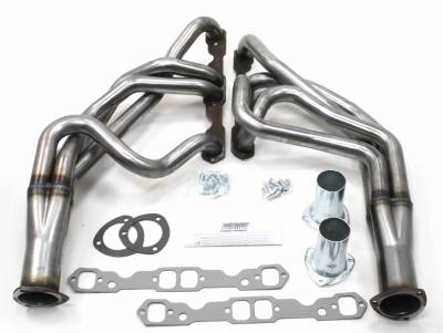 Patriot Headers - Patriot Specific Fit Headers - Patriot Exhaust Products - 55-57 Chevrolet SBC Long Tube Raw Steel