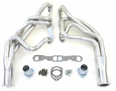 55-57 Chevrolet SBC Long Tube Silver