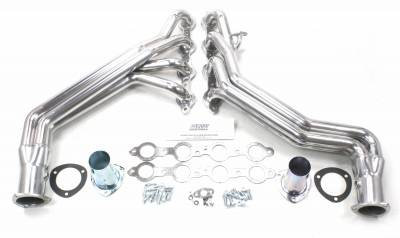 Patriot Headers - Patriot Specific Fit Headers - Patriot Exhaust Products - 99-06 GM Truck 2WD Long Tube Silver