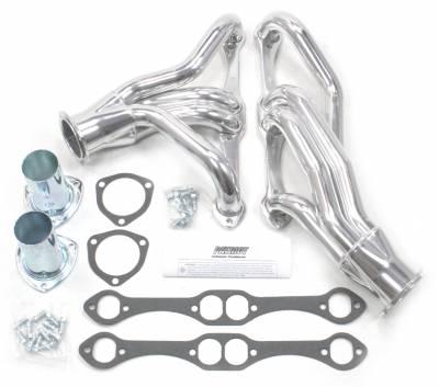 Patriot Headers - Patriot Clippster Headers - Patriot Exhaust Products - 67-9 Cam 68-79 Nova SBC Mid Length Slvr