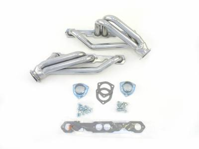 Patriot Headers - Patriot Clippster Headers - Patriot Exhaust Products - 82-02 S-10 4WD SBC Shorty Silver