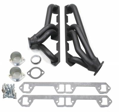 Patriot Headers - Patriot Clippster Headers - Patriot Exhaust Products - 68-91 Various AMC 290-401 Mid Length Blk